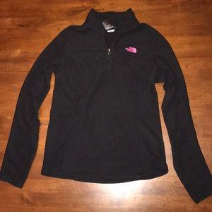 North Face Black 1/4 Pullover